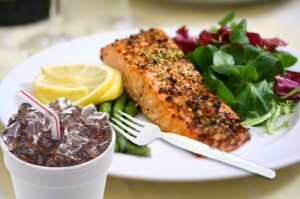 Broiled Salmon Dinner
